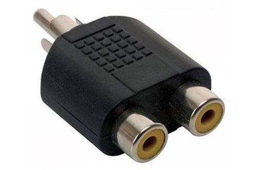 ADAPTADOR 1 PLUG RCA A 2 JACK RCA A221 GB0158