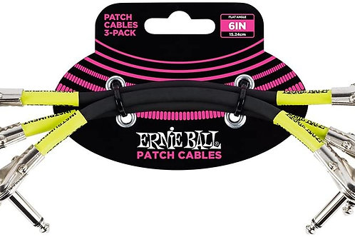 SET DE 3 PATCH CABLES PARA PEDAL 6 PLGS NEGRO EB6050 <ERNIE BALL>