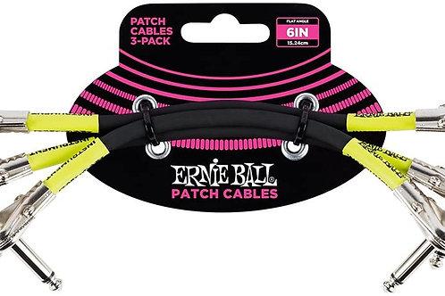 SET DE 3 PATCH CABLES PARA PEDAL 6 PLGS NEGRO EB6050 <ERNIE BALL>