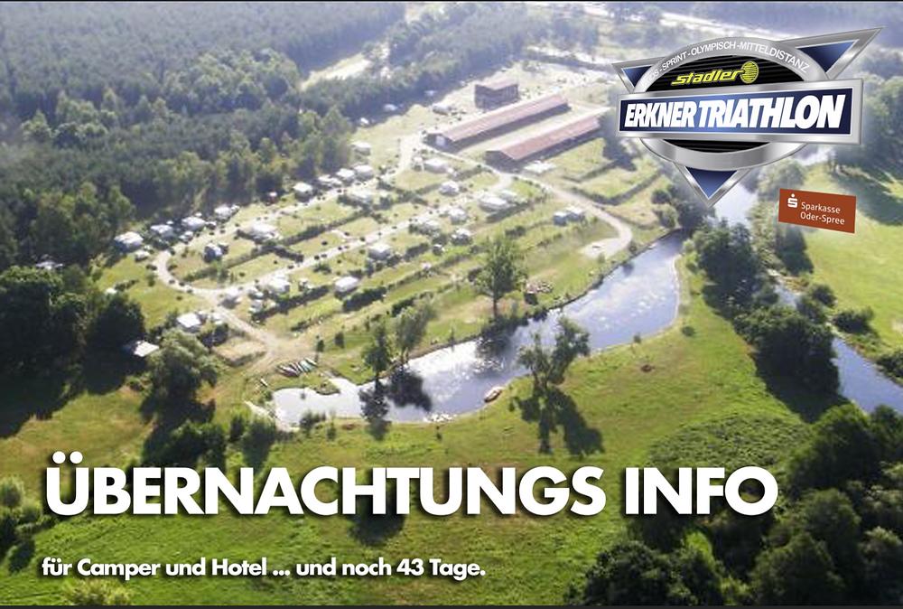 Übernachtung Information Erkner Triathlon