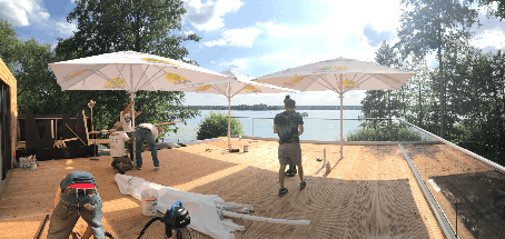 Sunset Lounge @Badebar Erkner einen Tag vor der Eröffnung