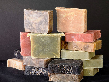 Nature Provides The Color For Balsam Rose Soap Bars