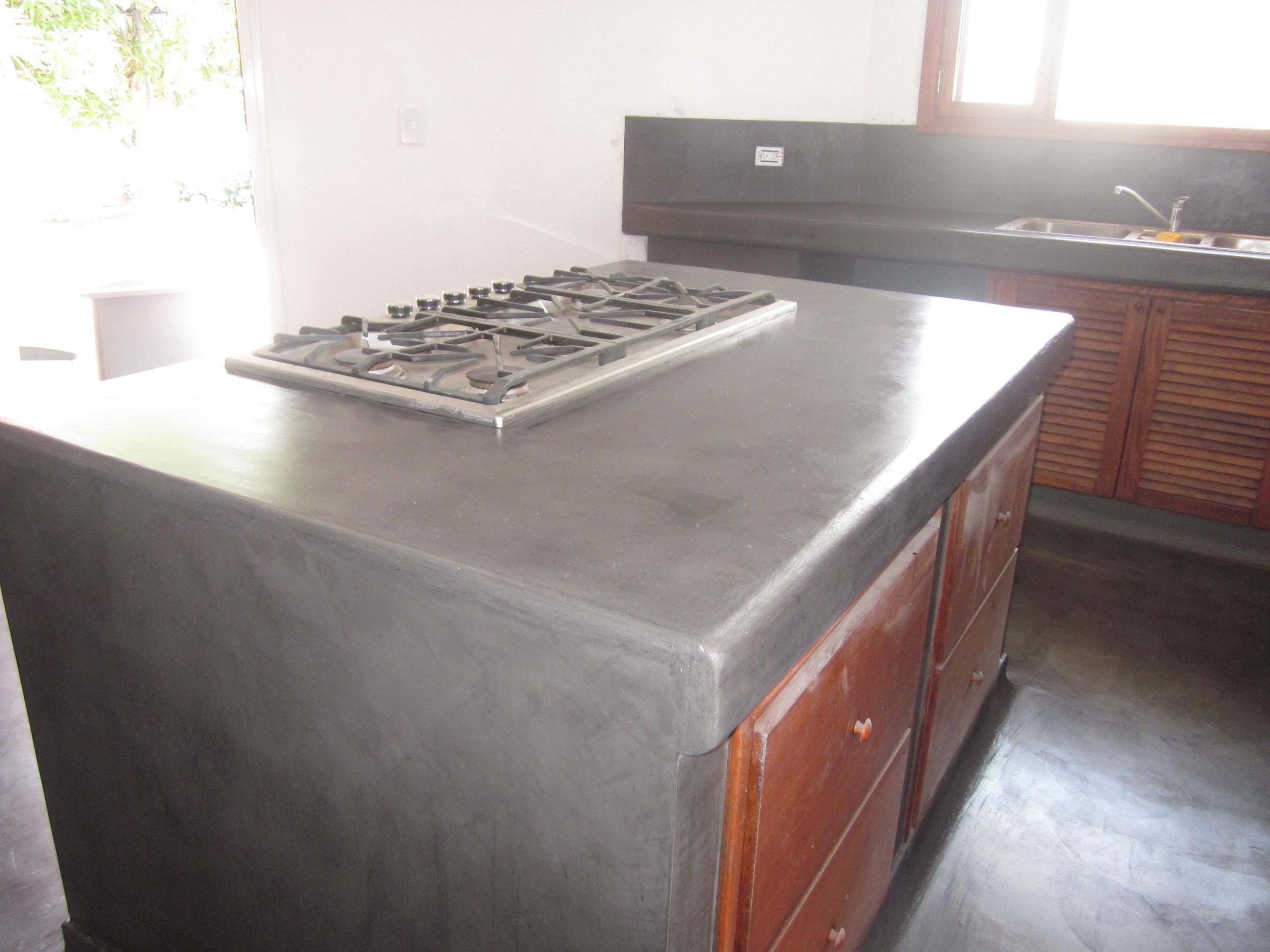 encimera cocina microcemento