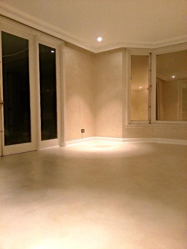 pisos en microcemento hueso