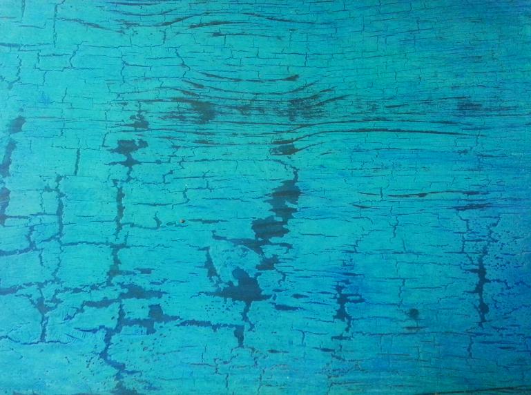 imitación de madera pintada craquela