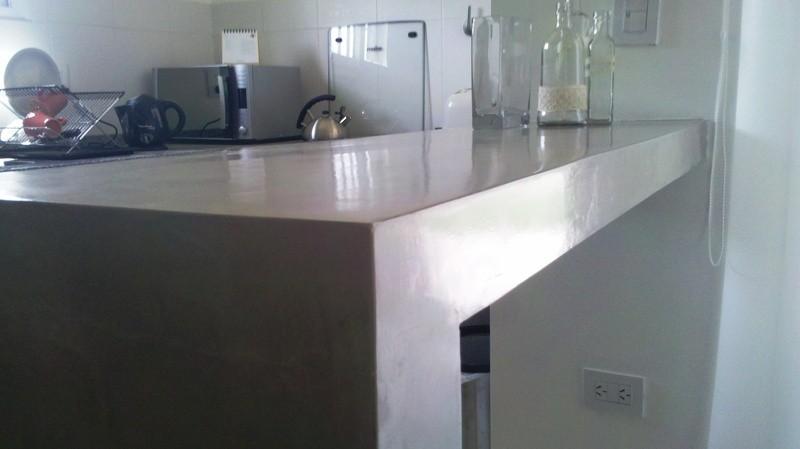 cubierta cocina microcemento