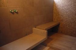 mueble baño revestido microcemento
