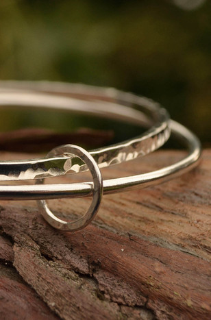 Handcrafted silver bangle