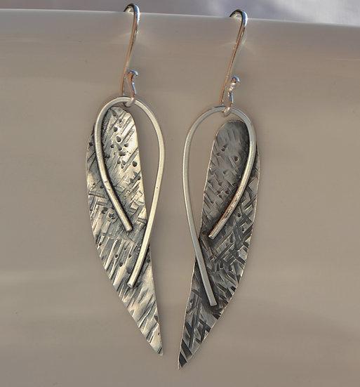 Oxidised angel wings earrings