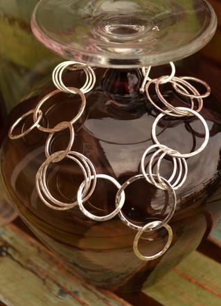 Sterling silver, Multi-Link Circle bracelet