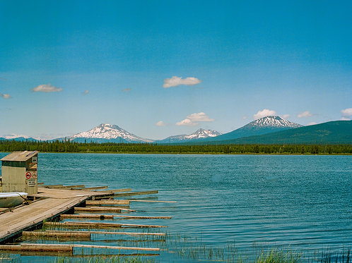 [Oregon on Film] A Lake, A Dock, and 3 Mountains in the Distance