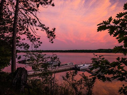 [Walden] Ski Boat Dock At Sunset 2
