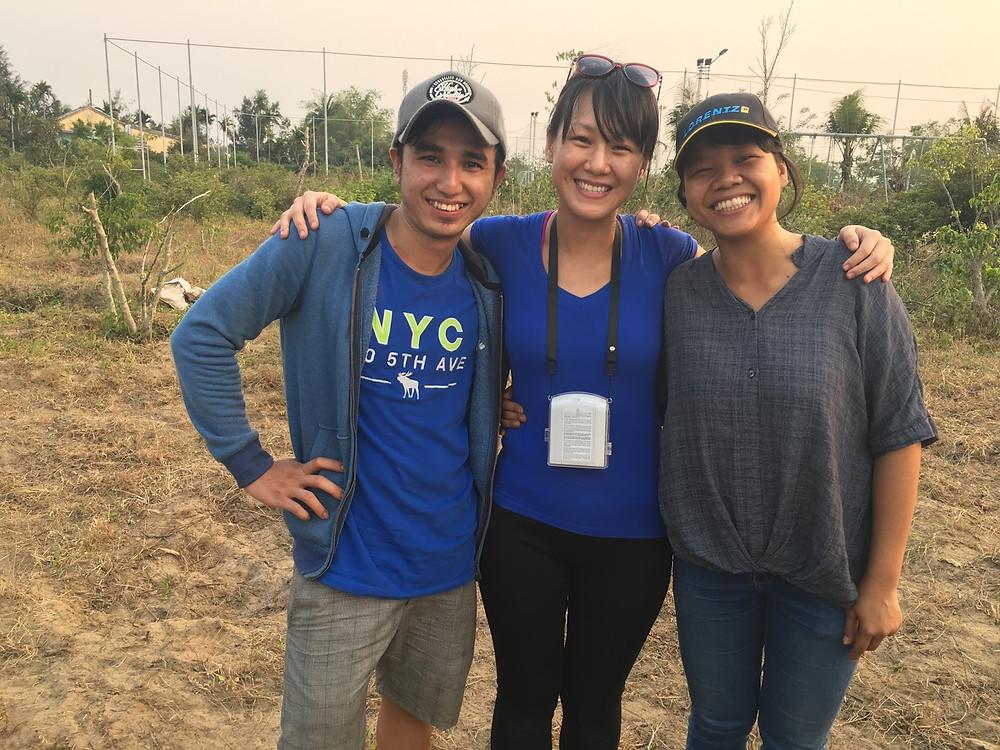 With friends - Minh Tran & Be Tran