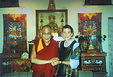 with HH the Dalai Lama