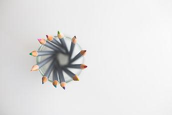 Lápis em um copo