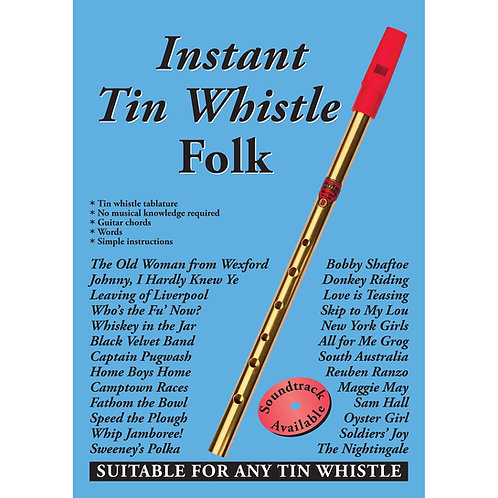 Instant Tin Whistle Folk Book - Dave Mallinson