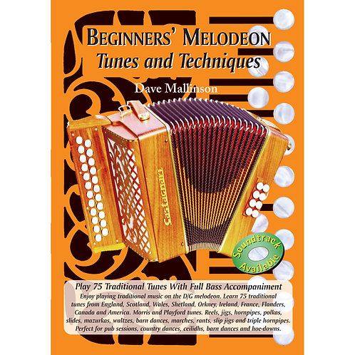 Beginners' Melodeon Tunes and Techniques Book - Dave Mallinson