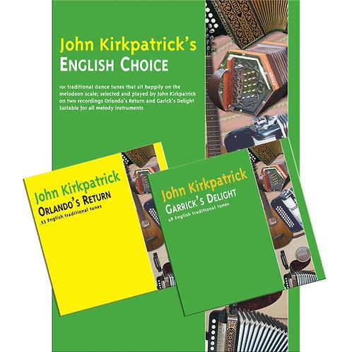 John Kirkpatrick's English Choice Book and 2 CDs - John Kirkpatrick
