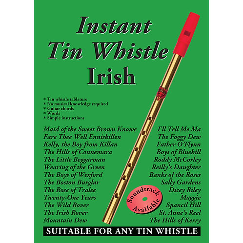 Instant Tin Whistle Irish Book - Dave Mallinson