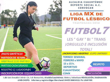 Anuncian Liga LGBTTTI de Fútbol en la Alcaldía Cuahutemoc