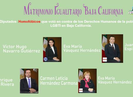 Baja California Vota contra el Matrimonio Igualitario