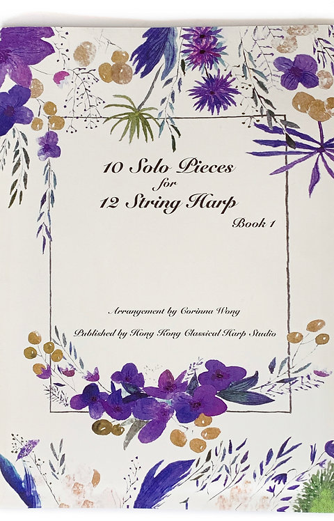10 Solo Pieces for 12 String Harp Book 1