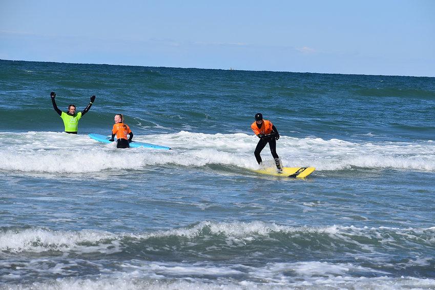 Begynder surfing Klitmøller Danmark