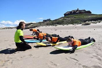 begynder surfskole i Klitmøller - Viking Adventures