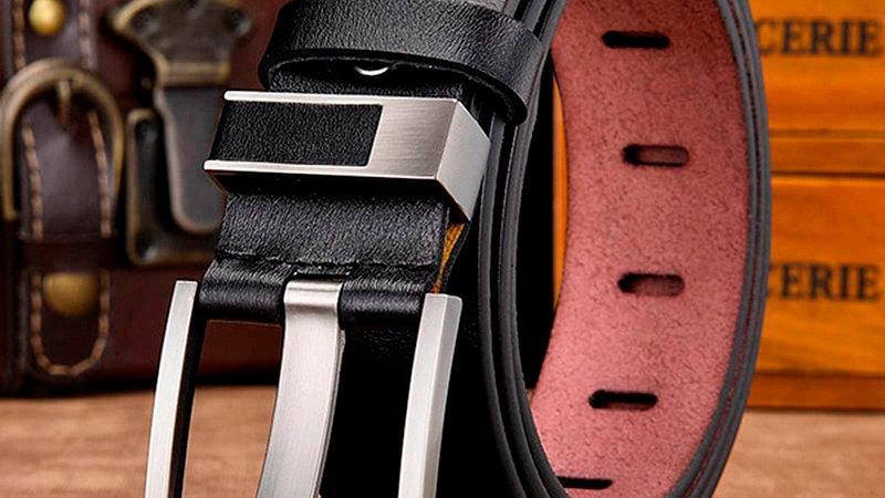 Genuine Leather Luxury Pin Buckle Belts