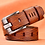 Thumbnail: Genuine Leather Luxury Pin Buckle Belts
