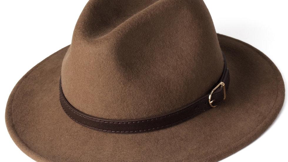 100% Australia Wool Fedora Wide Brim Jazz Felt Hat