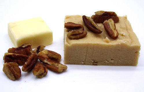 Butter Pecan Goat Milk Fudge with pecans
