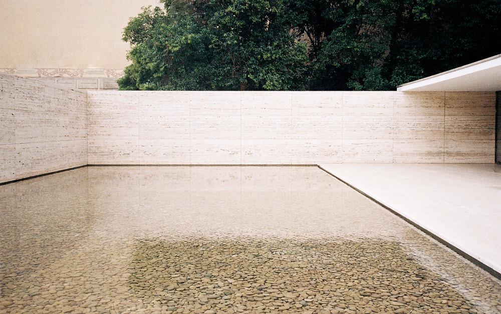Mies van der Rohe Barcelona Pavilion Fundacio Marble Architecture