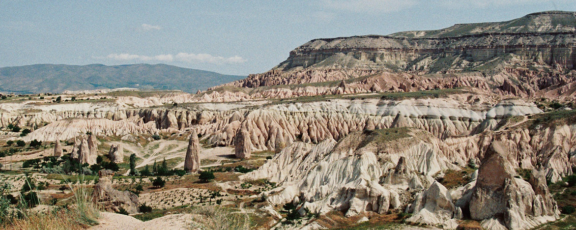 Landscapephotography on 35mm analog film in Red and Rose valley, Cappadocia Turkey, by Debbie Trouerbach