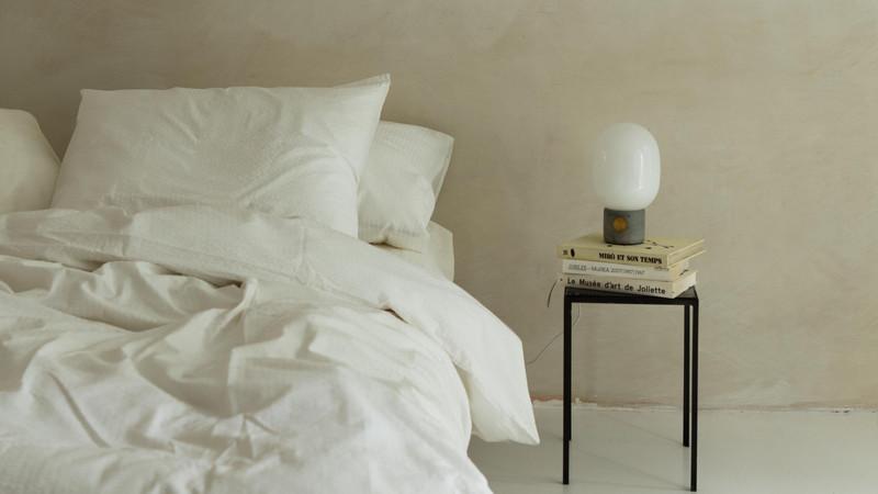 Crisp Sheets bedding by debbie trouerbac