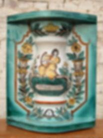 Изразцовый блок для печки, Куракинская Керамика, Керамиа, Изразцы, Ферапонтово, ЮНЕСКО