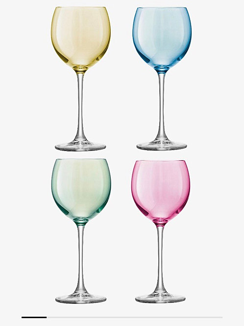 LSA 400ml Polka Wine Glasses...Set of 4