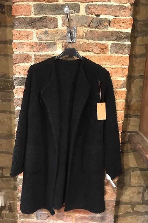 Ladies black coatigan