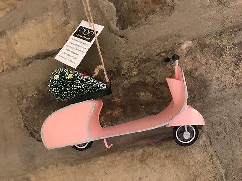 Pink scooter hanging dec