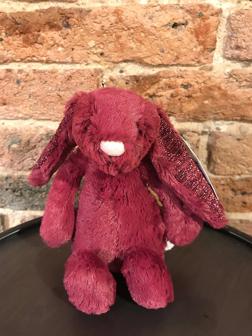 Jellycat Small Bashful Sparkly Cassis Bunny