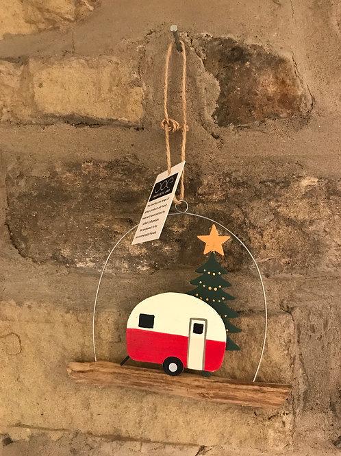 Christmas caravan hanging dec