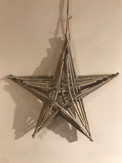 Large driftwood look star