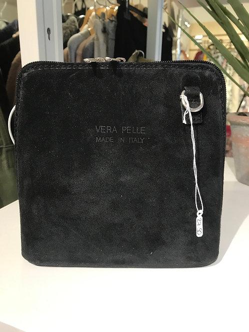 Black Suede Crossbody Bag