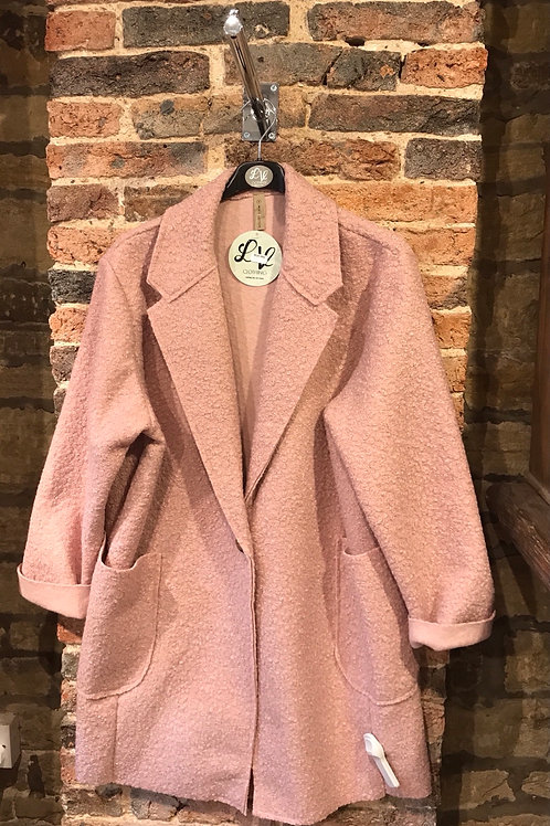 Ladies dusky pink coat