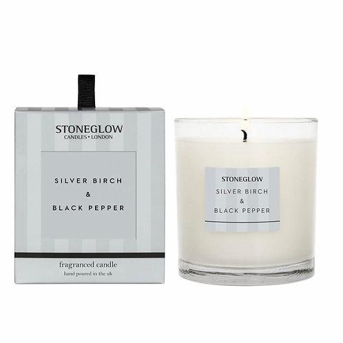 Silver birch & black pepper candle