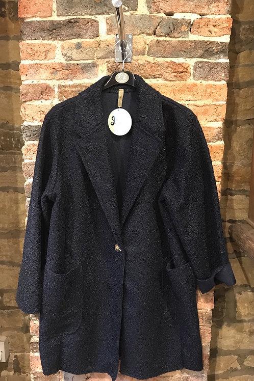 Ladies navy coat
