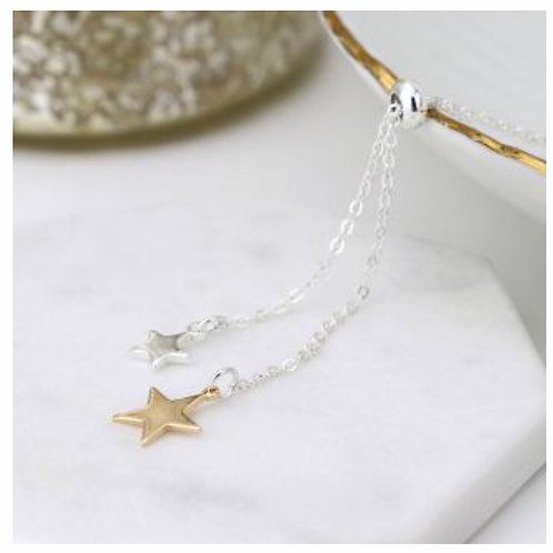Silver & gold plated necklace