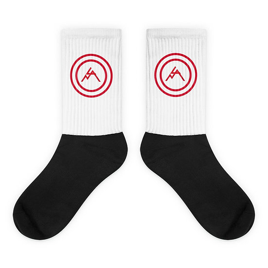 Red Bullseye Socks