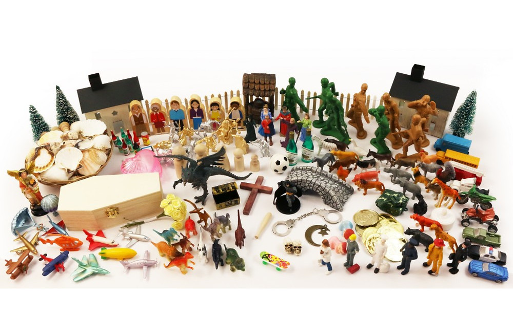 Sandtray Miniatures to use in sandtray therapy and play therapy with children