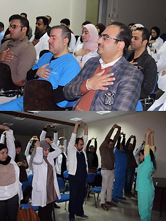 Yoga for Doctors speaker influncer motivator fatima al mansoori yoga ambassador mindfulness conference bahrain influncer